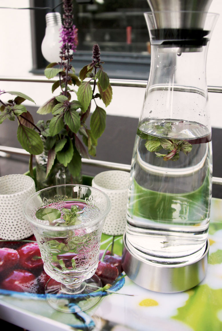 Infused Water mit Minze Grüneliebe City Garden