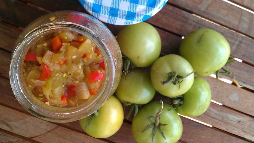 Grüne Tomaten Chutney