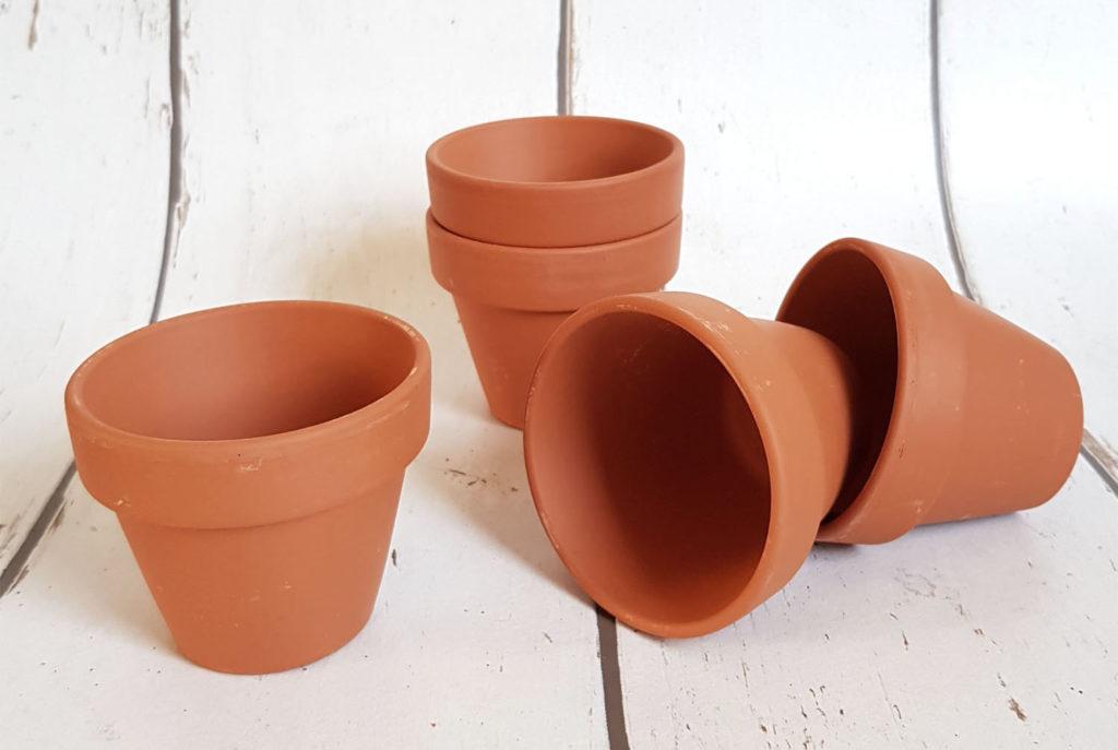 Anzuchttöpfe aus Ton, Kunststoff oder Zellulose
