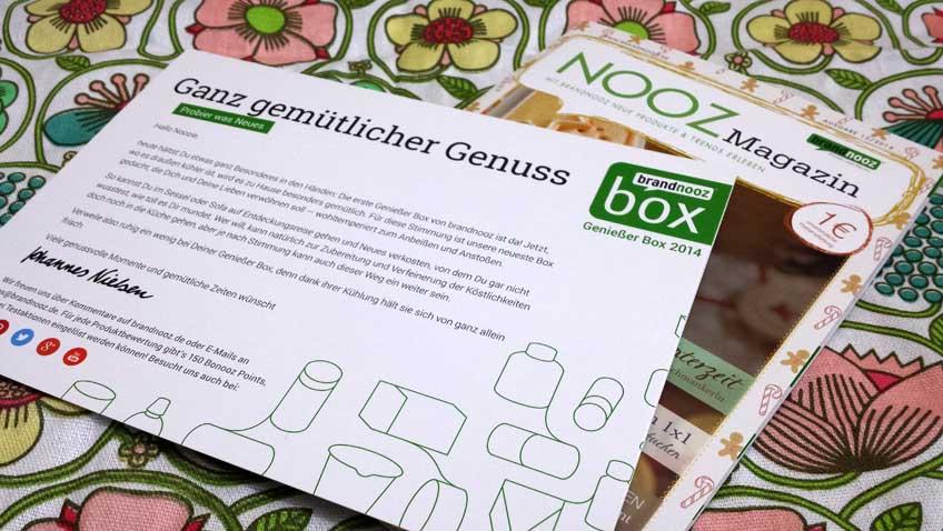 brandnooz Genießer Box