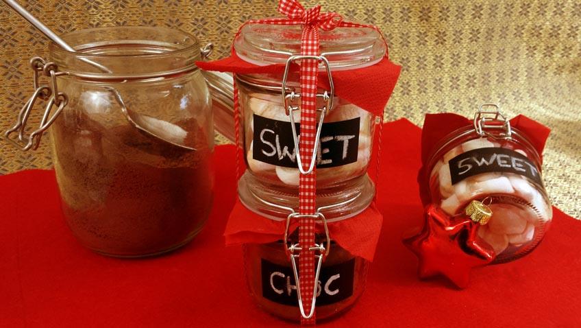 Geschenkidee Geiße Schokolade mit Marshmallows