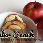 Apfelchips im Dörrautomat