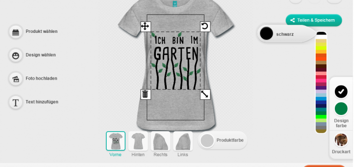 Spreadshirt Designer Screenshot