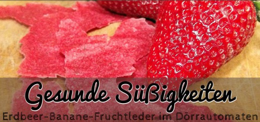 Fruchtleder Erdbeere-Banane