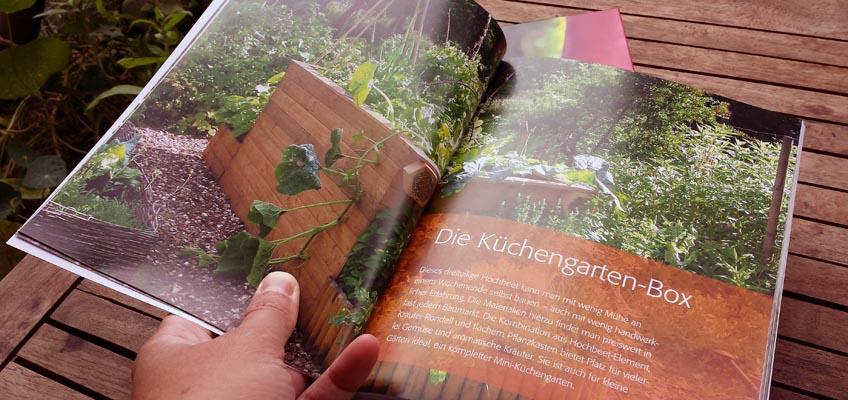 Hochbeet-Gärtnern Küchengarten-Box