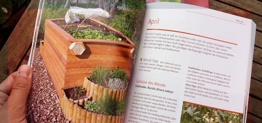 Hochbeet-Gärtnern Monat April