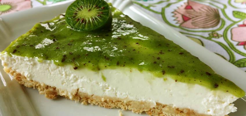 Limetten-Schoko-Cheesecake ohne Backen mit Kiwibeere