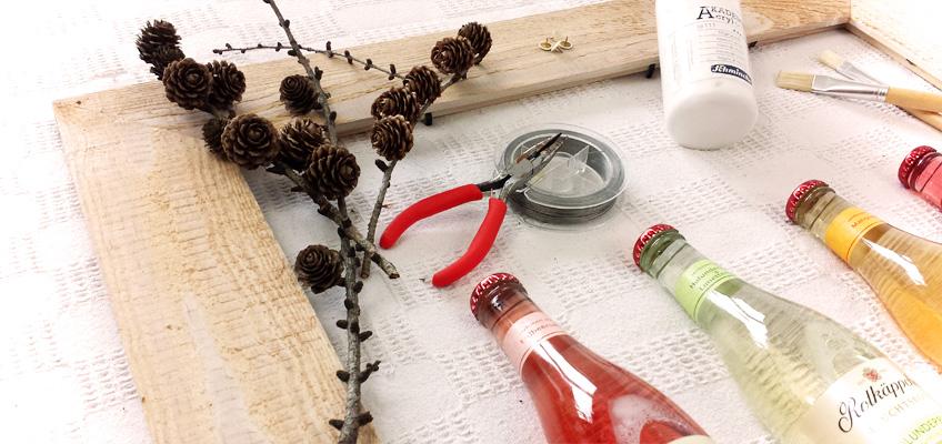 Flaschendeko Rotkäppchen Fruchtsecco