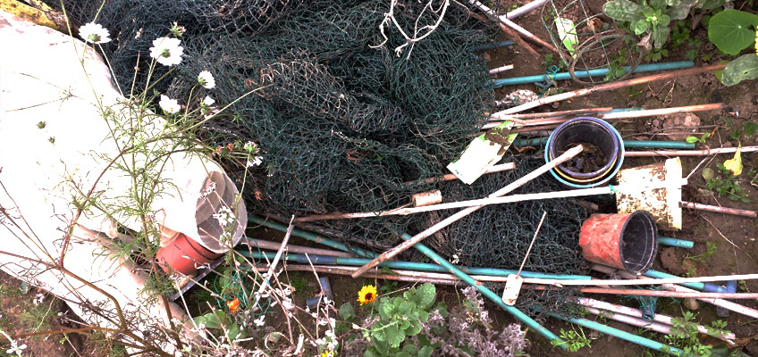 Anorganische Materialien im Garten