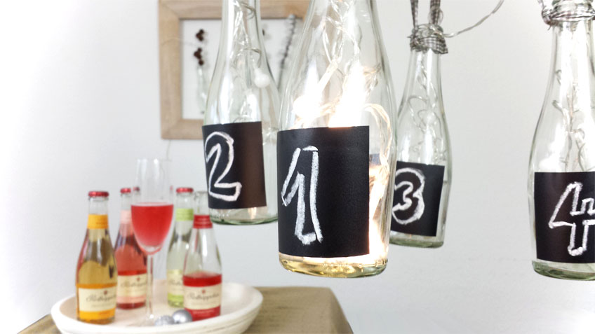 DIY Adventskranz mit LED Lichterkette