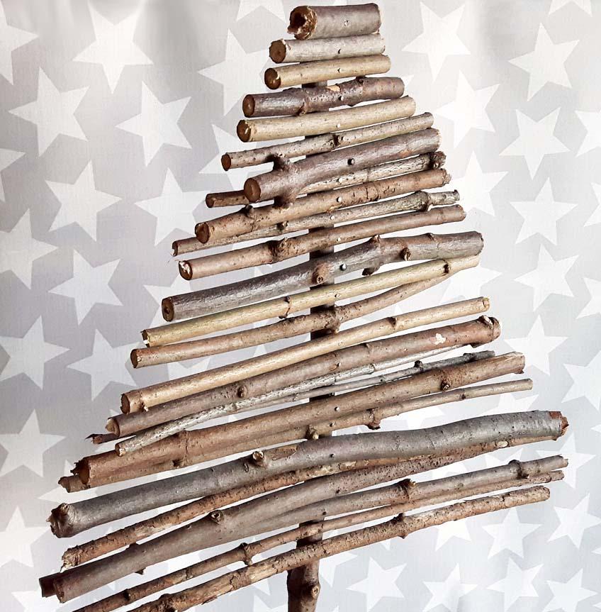 diy weihnachtsbaum aus holz  nadelfrei und selbstgemacht