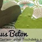Basteln zu Oster: Hase aus Beton