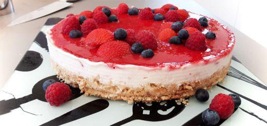 Cheesecake mit Erdbeeren