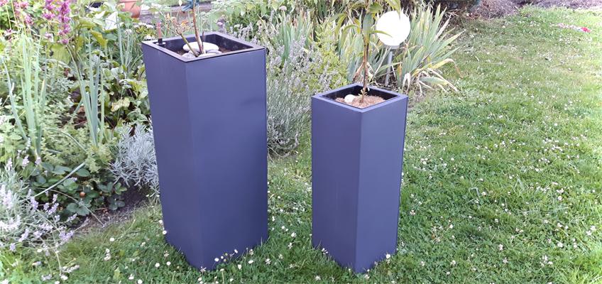 Pflanzgefäß aus Stahlblech Zink