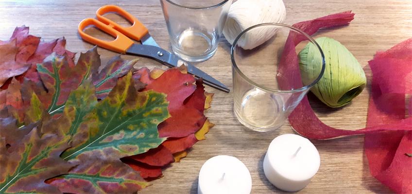 Schnelle DIY Herbstdeko mit Blättern