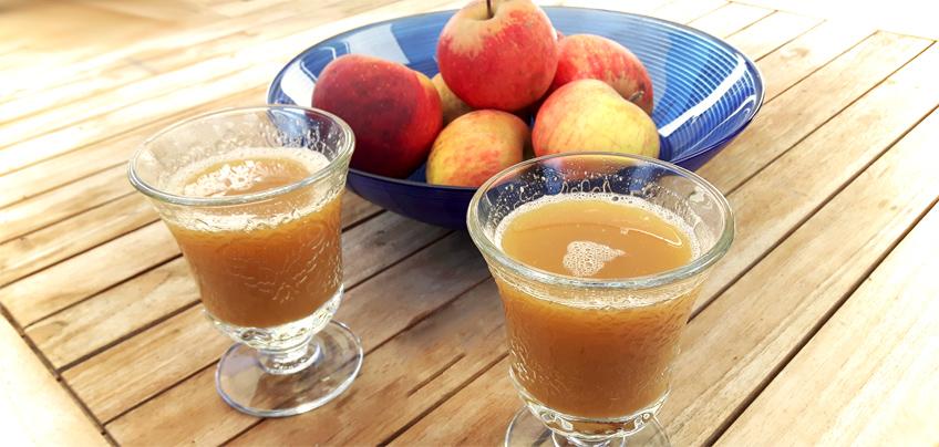 Selbstgemachter Apfelsaft in 5 Minuten