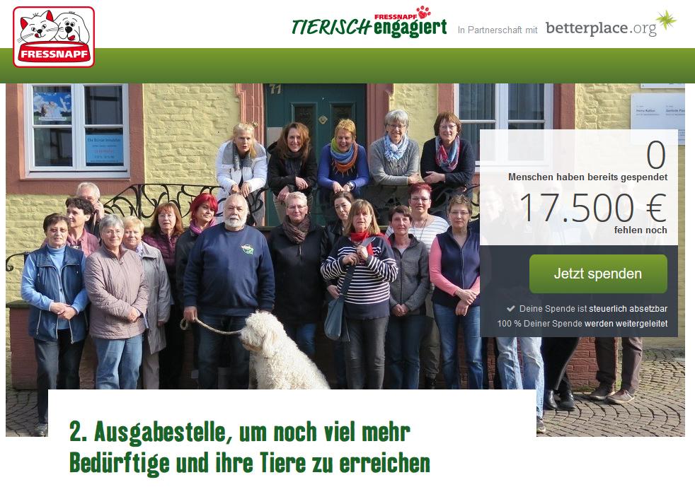 Projekt tierisch-engagiert Fressnapf