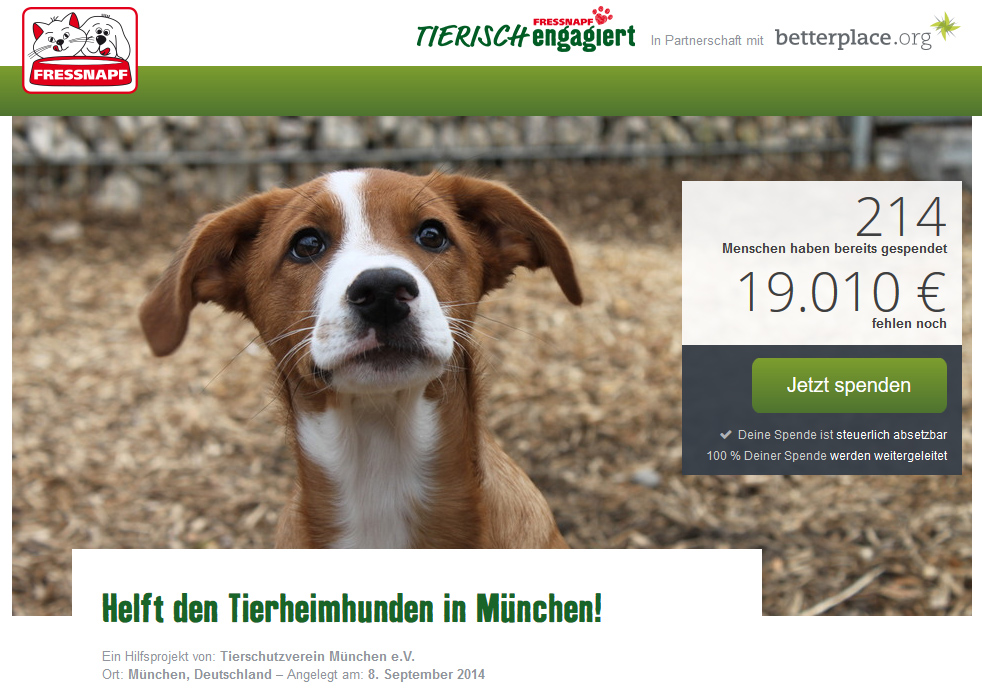 Projekt tierisch engagiert Fressnapf