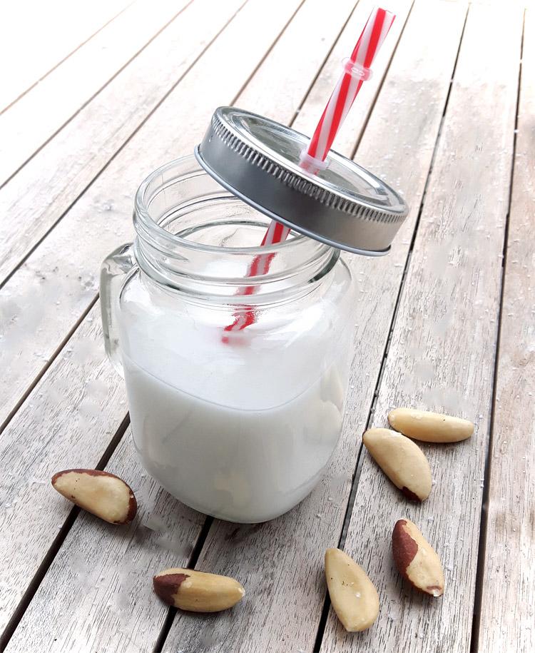 Selbstgemachte Nussmilch aus Paranüssen
