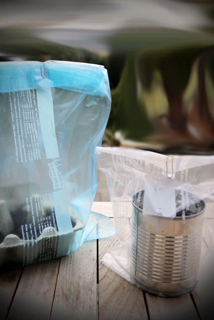 DIY Zimmergewächshaus aus Konservendose und Eierkarton