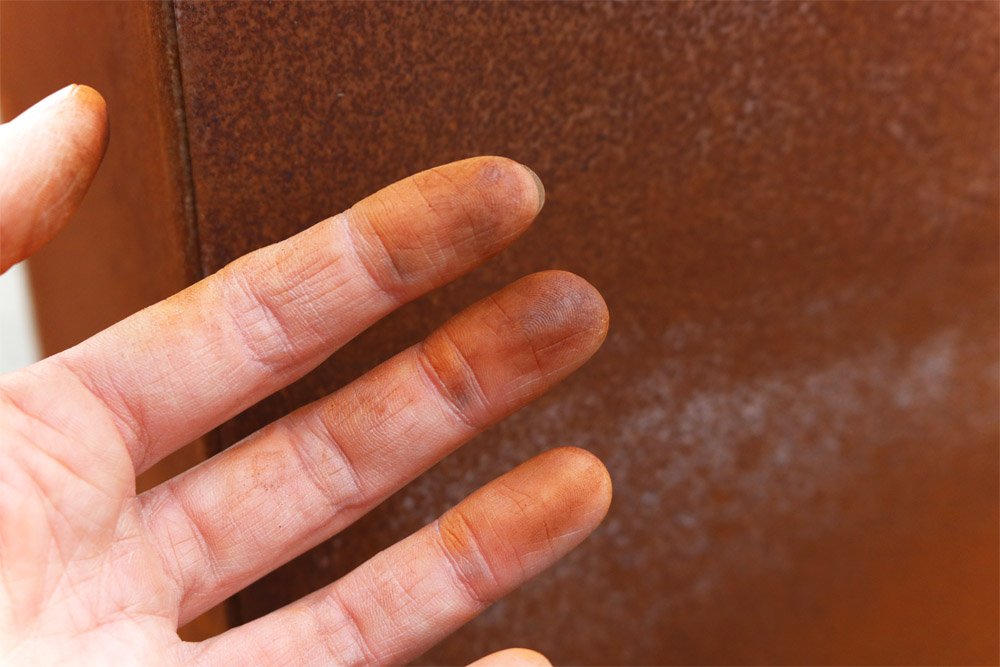 Edelrost an Fingern
