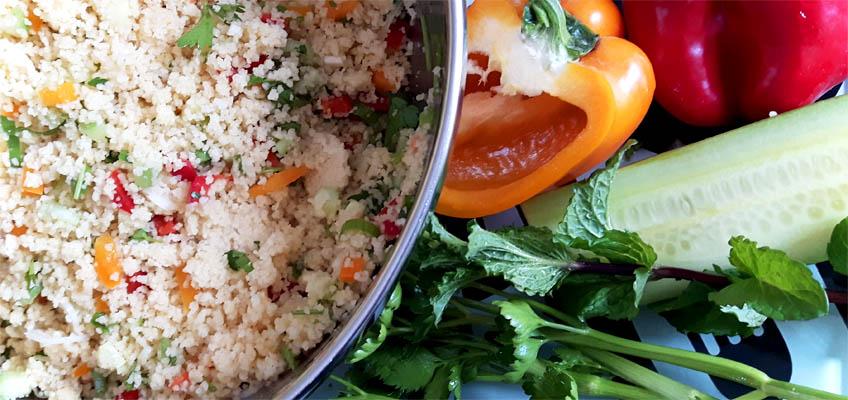 Tabouleh Couscous mit Kräutern und Gemüse