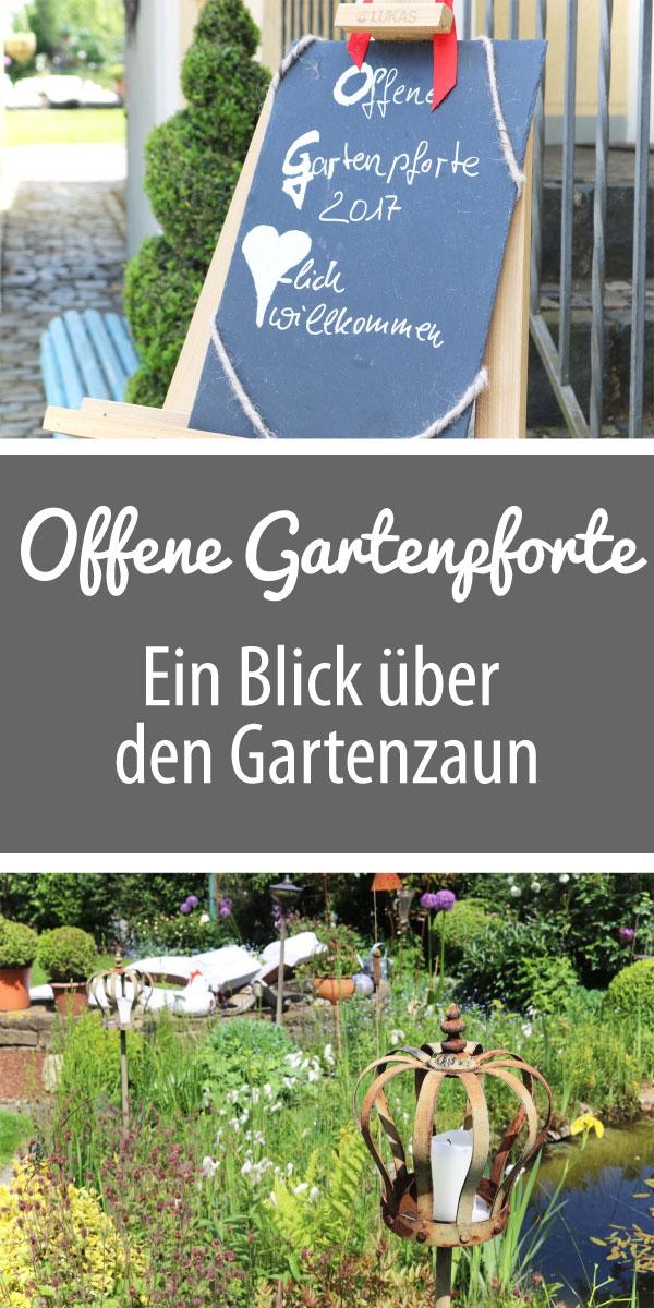 Offene Gartenpforte - Ein Blick über den Gartenzaun