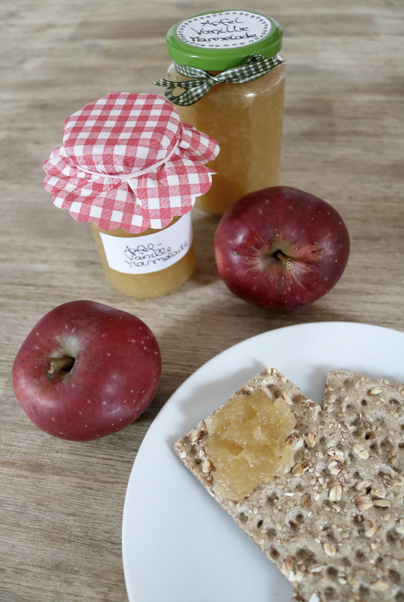 Rezepte aus dem Garten Apfelmarmelade mit Vanille und Salz