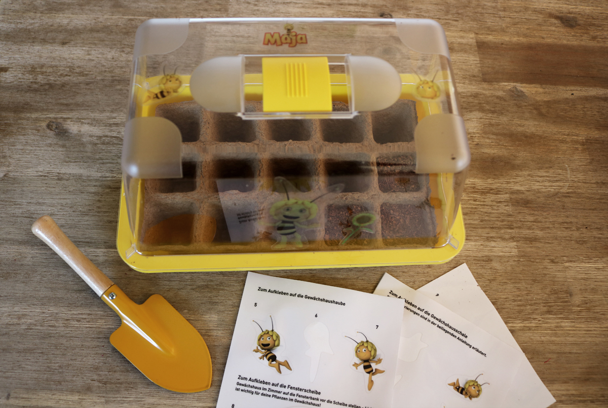 Biene Maja Sonnenblumen-Gewächshaus ROMBERG