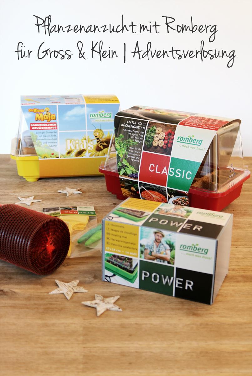 Pflanzenanzucht mit Romberg für Groß und Klein Adventsverlosung