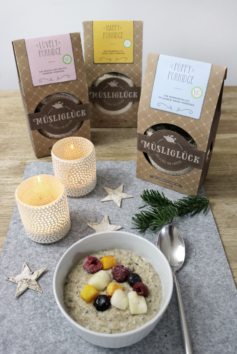 Müsliglück Porridge - Poppy Porridge mit Früchten