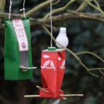 Vogelhaus aus Milchkarton