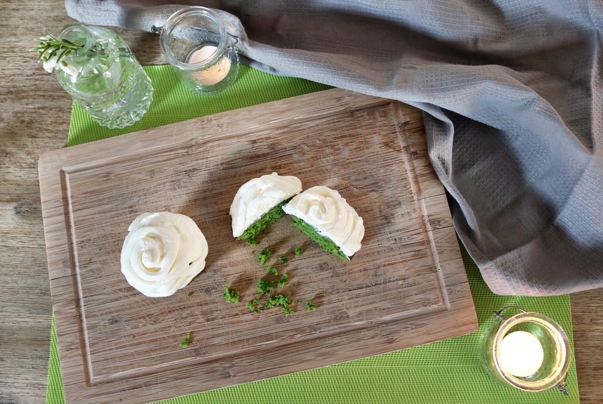 Süße Spinatmuffins mit Cheesecake Topping Rezepte aus dem Garten