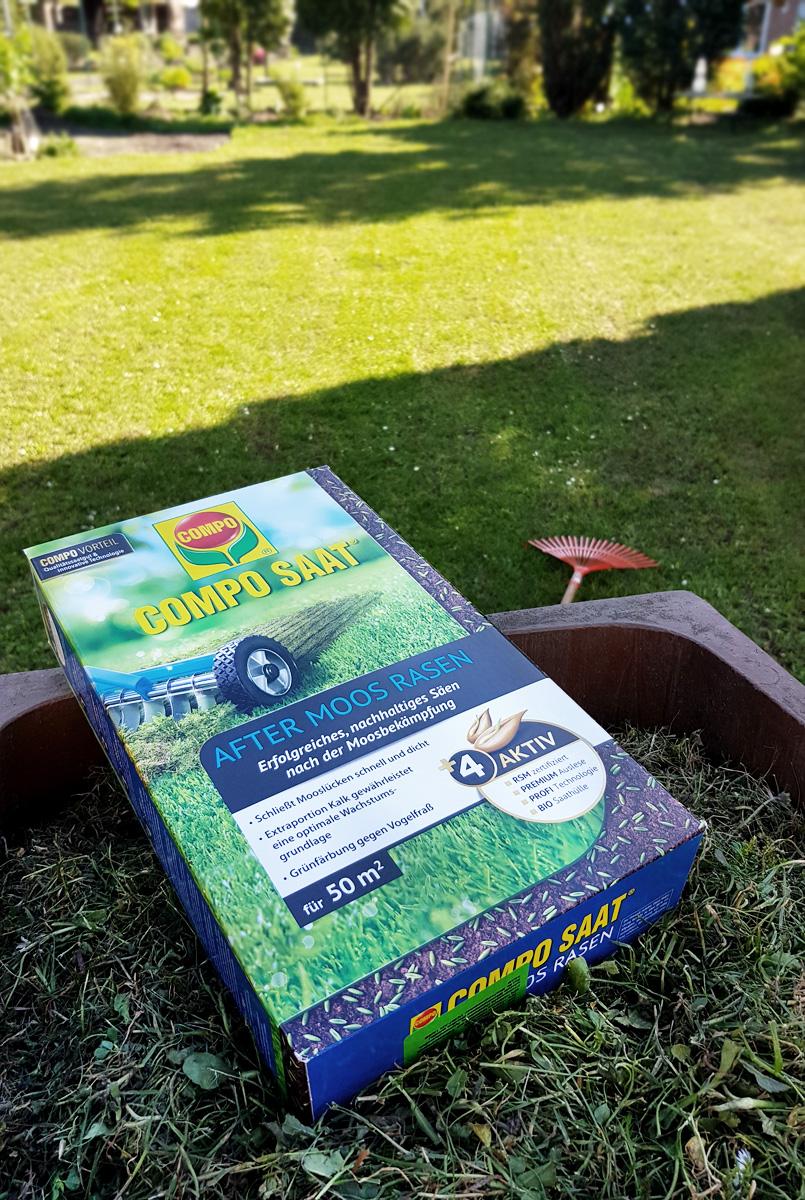 Rasenpflege Nachsäen Compo Saat After Moos Rasen