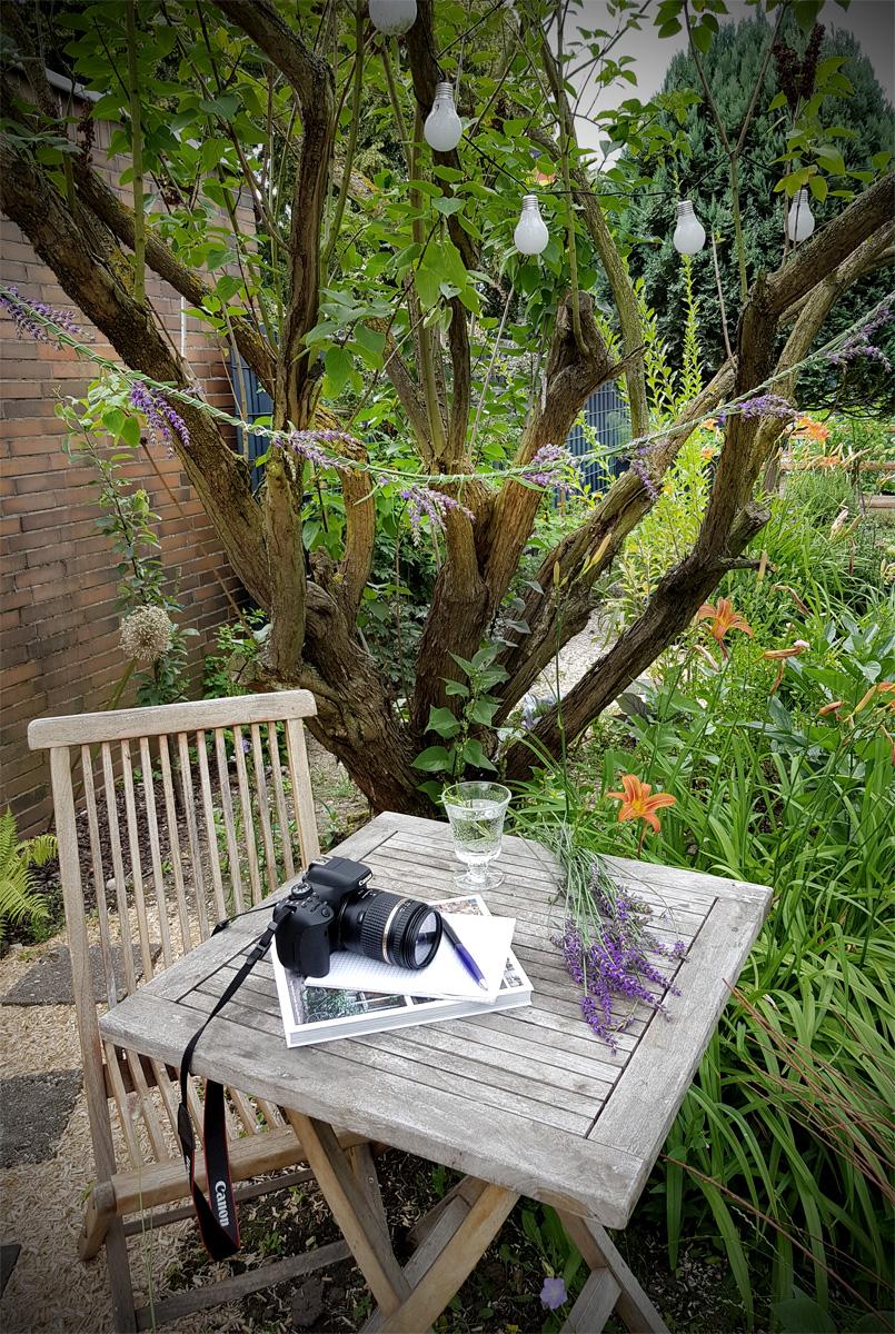 Gartengirlande aus Lavendel DIY
