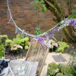 Lavendelgirlande für Gartenparty DIY