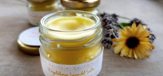 Ringelblumen-Lavendel-Salbe für Gärtnerhände |Ringelblumensalbe selbstgemacht