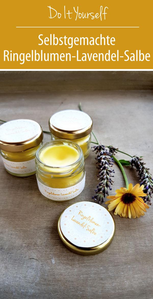 Ringelblumen-Lavendel-Salbe | Ringelblumensalbe selbstgemacht