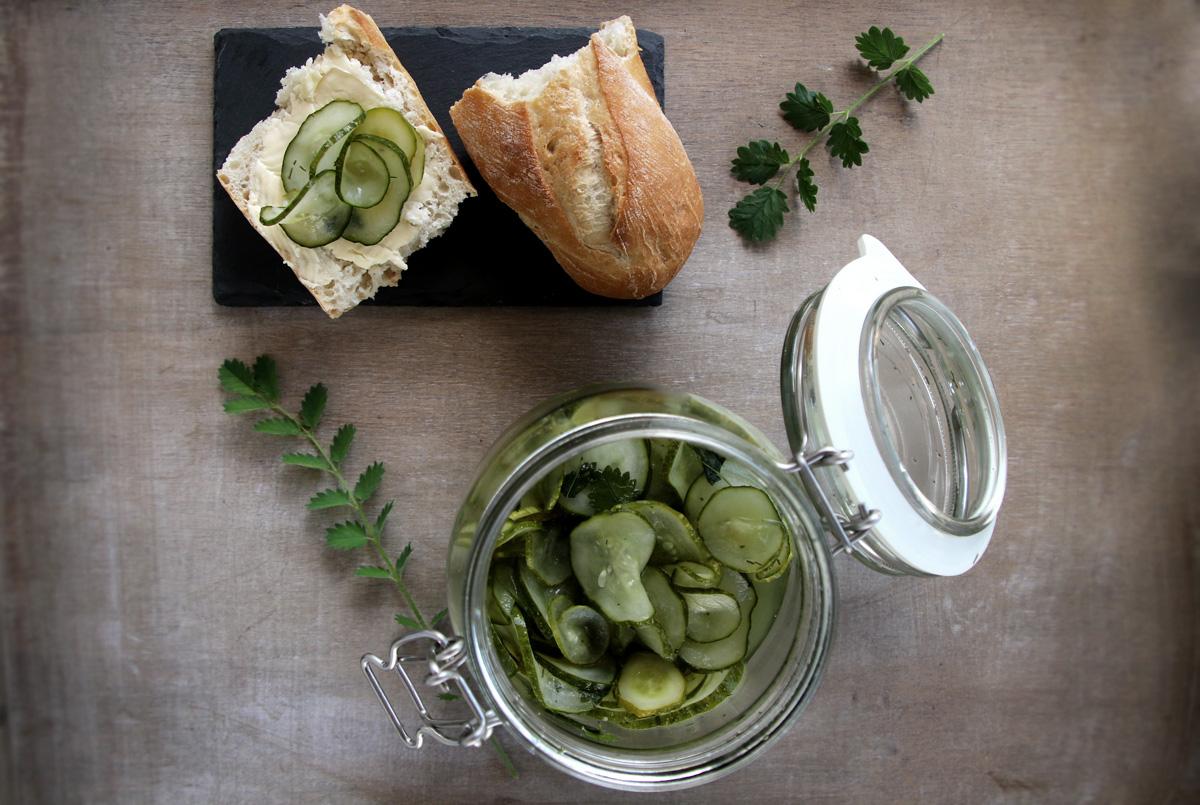 Saure Einlegegurken schnelles Rezept - saure Gurken selbstgemacht