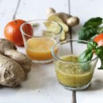 Ingwer Shot mit Mandarine und Orange-Basilikum