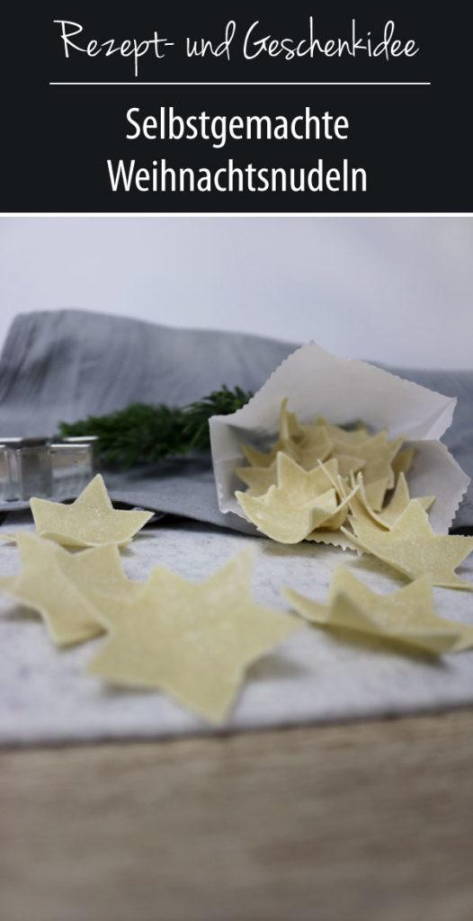 Rezept- und Geschenkidee | Selbstgemachte Weihnachtsnudeln
