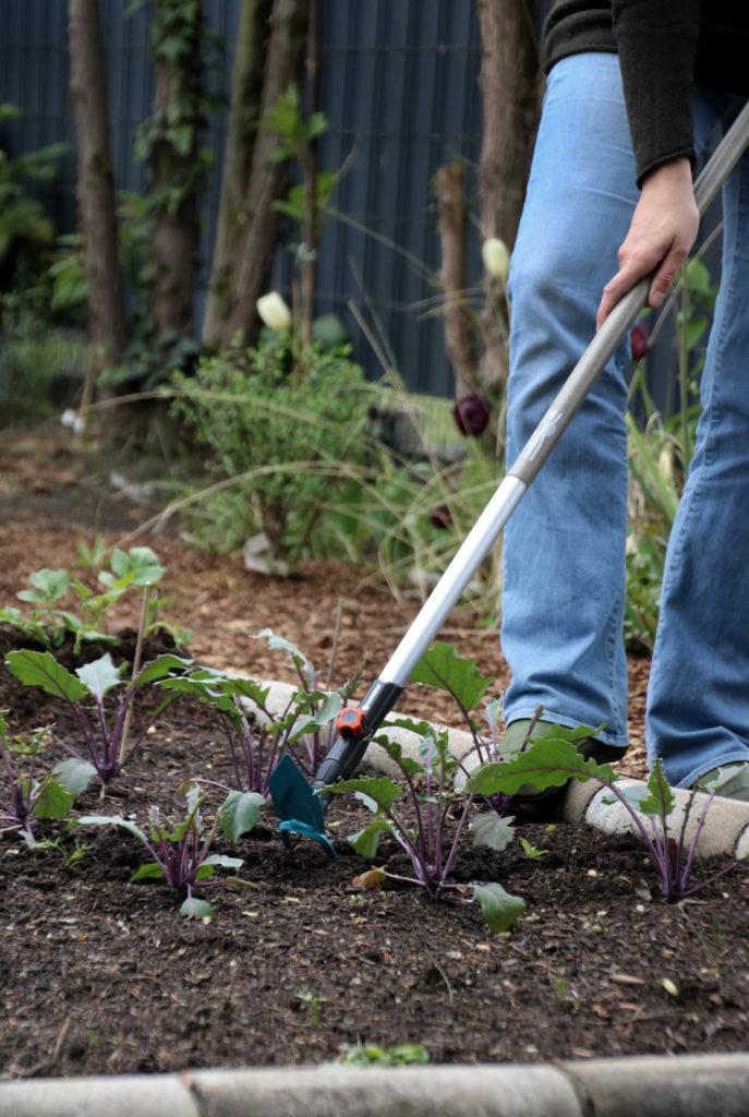 Werbung / Gartenhacke - Welche Gartengeräte benötigt man im Gemüsegarten? Gärtnern mit dem Gardena Combisystem