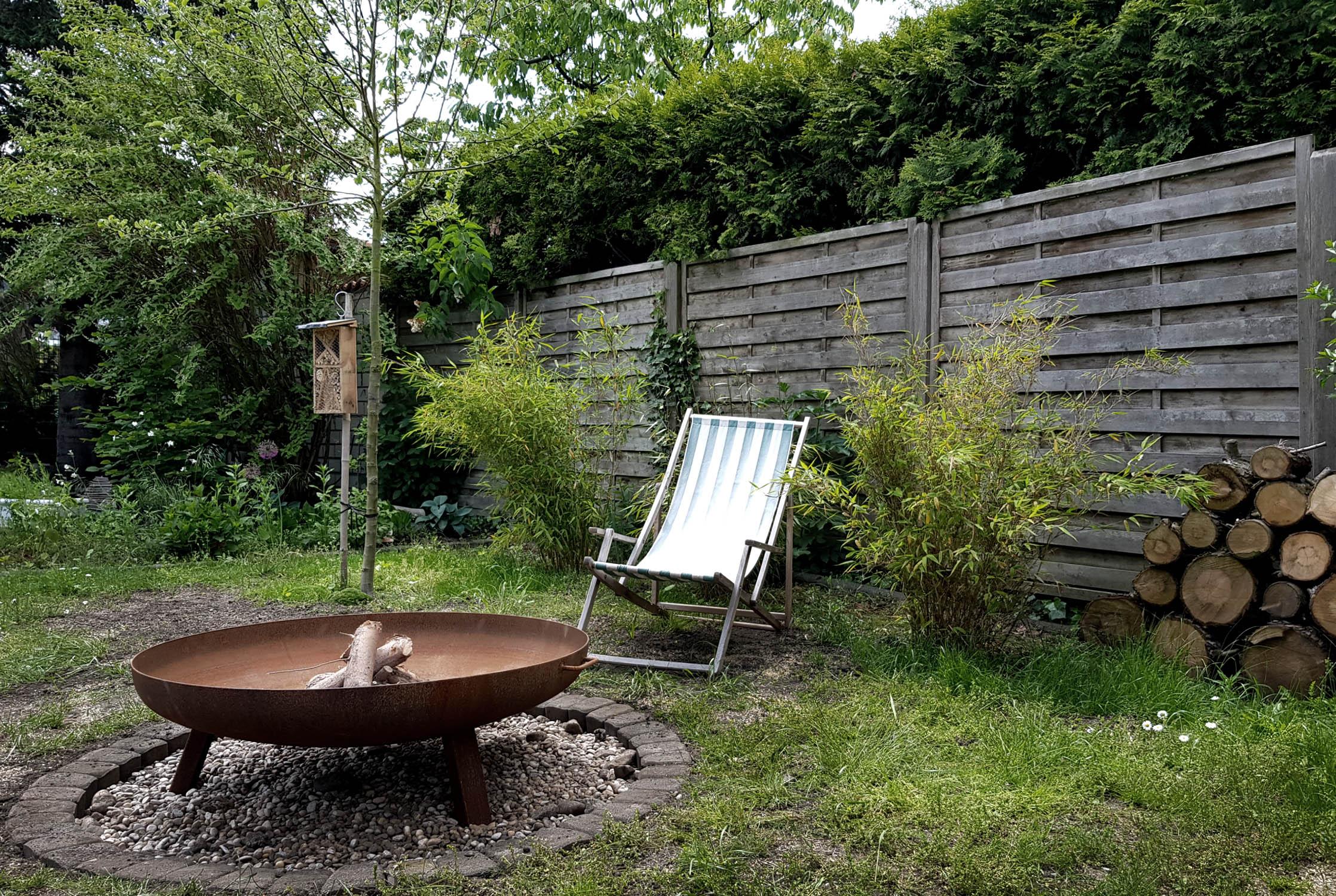 Feuerstelle bauen im Garten