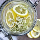 Holunderblütensirup einfach und gut mit Zitrone