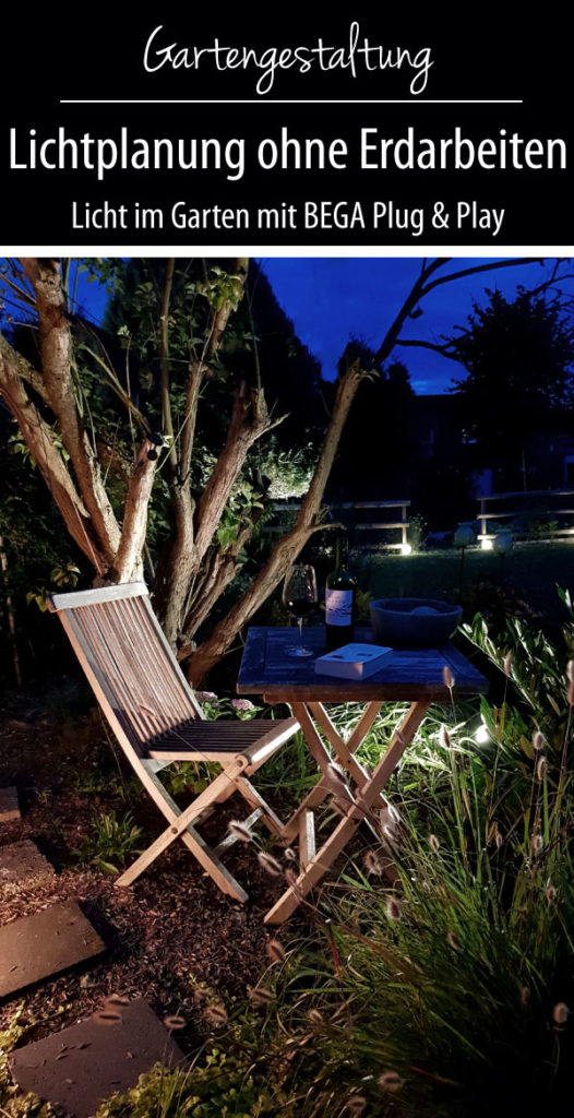 Lichtplanung im Garten mit BEGA Plug and Play Gartenbeleuchtung