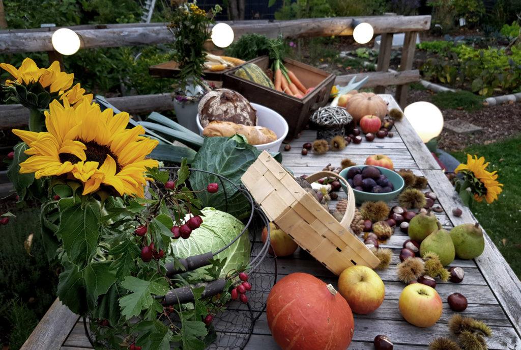 Erntedank im eigenen Garten