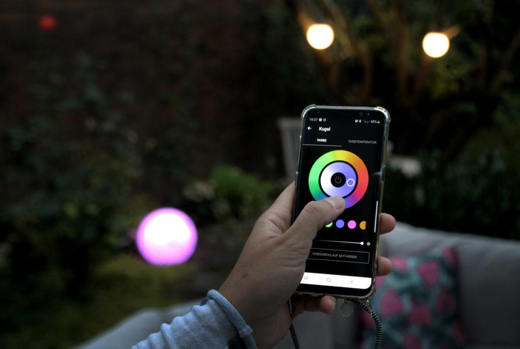BEGA Smart App Farbwechsel