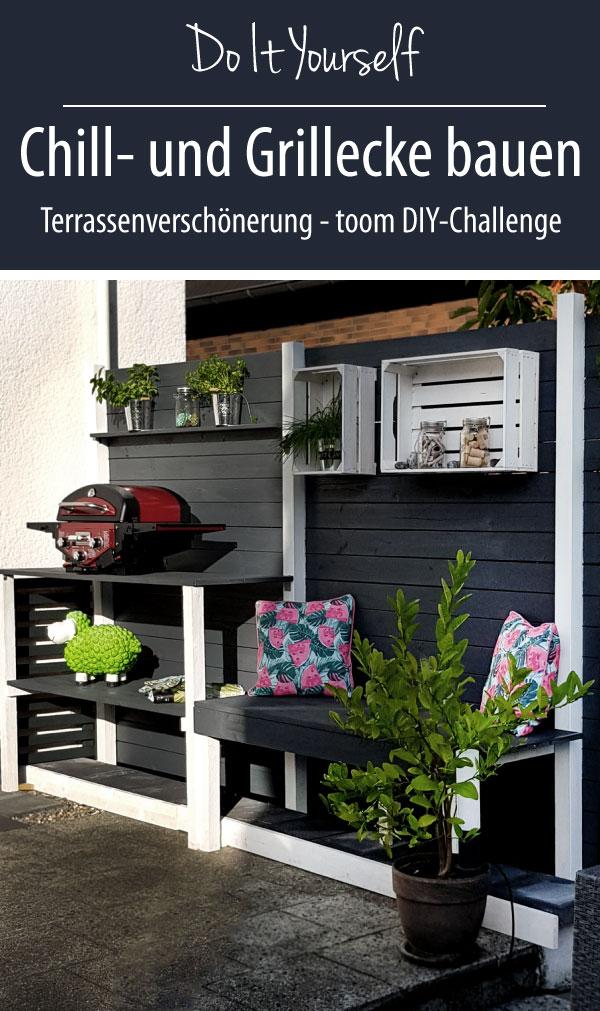 Chill- und Grillplatz als Terrassenverschönerung | DIY Challenge mit toom