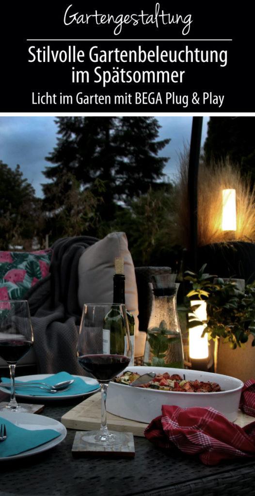 Gartenbeleuchtung im Spätsommer mit BEGA Plug & Play