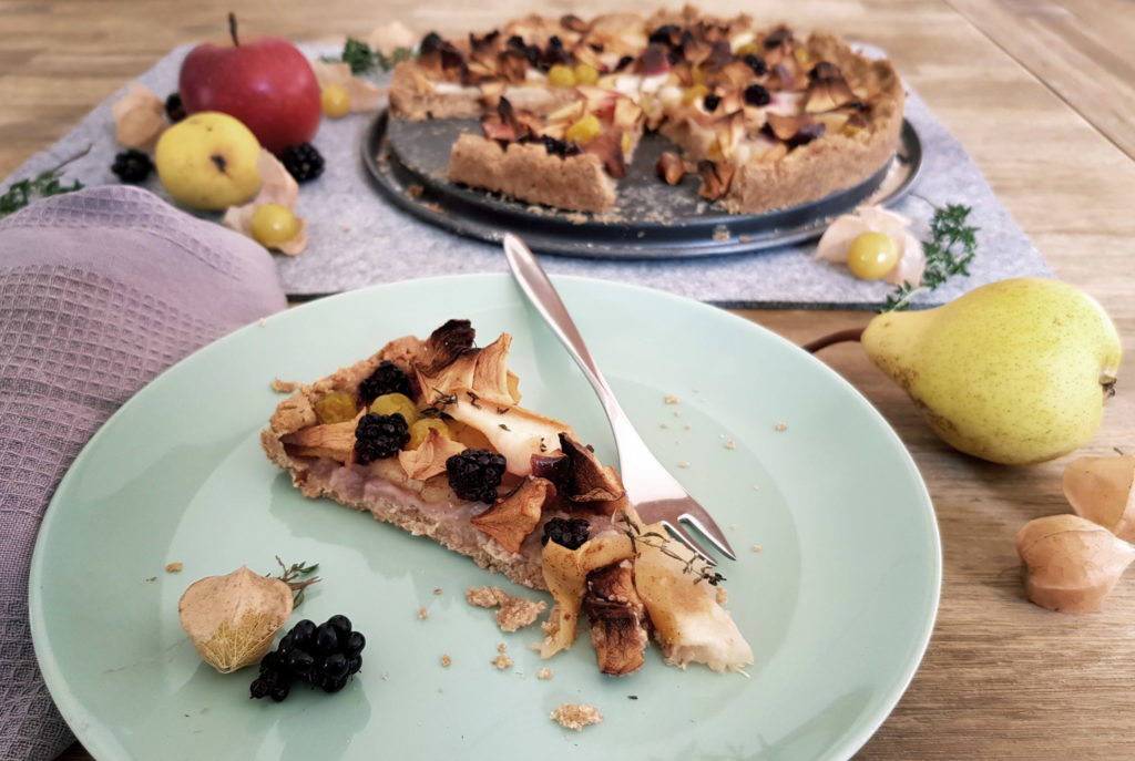 Obstkuchen mit Mürbeteig ohne Ei
